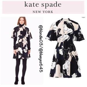 "Kate Spade ""Stallions"" Crepe Dress 2 NWT"